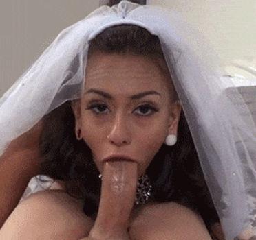 Noiva safada pagando boquete