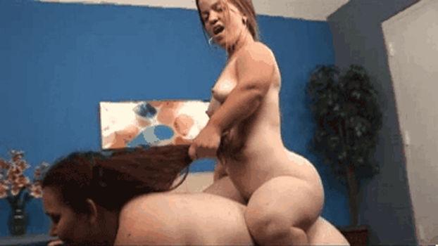 Anã gostosa fez a mulher gorda de cavalinho